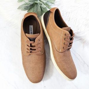 Steve Madden Mens Fokus Tan Oxford Sneakers